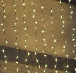 LEDウォーターフォールカーテン 電球色