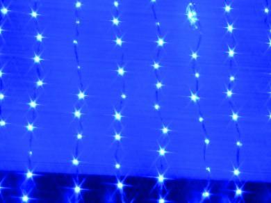 LEDウォーターフォールカーテン ブルー