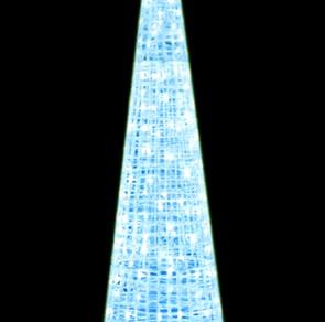 LEDクリスタルグロー ビッグコーン ホワイト(中)