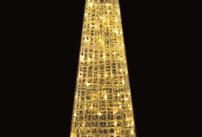 LEDクリスタルグロー ビッグコーン 電球色(大)