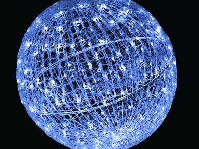 LEDクリスタルグローボール ホワイト(中)(現在完売中)