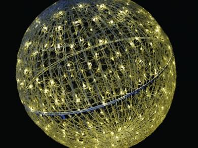 LEDクリスタルグローボール 電球色(中)