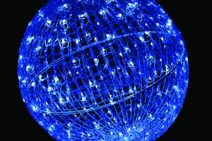 LEDクリスタルグローボール ブルー(大)