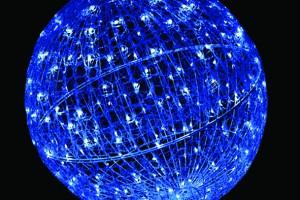 LEDクリスタルグローボール ブルー(小)