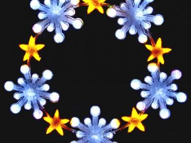 LEDクリスタルグロー スノーフレークリング(小)