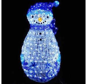 LEDクリスタルグロー ファンシースノーマン ブルー(現在完売中)