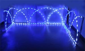 ガーデンフェンスライト ブルー&ホワイト