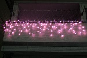 LEDつらら ライトピンク