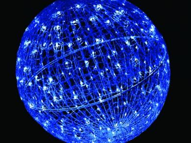 LEDクリスタルグローボール ブルー(中)(現在完売中)