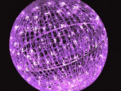 LEDクリスタルグローボール ピンク(大)