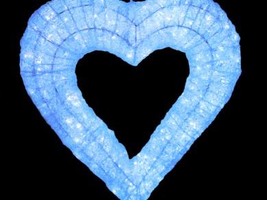 LEDクリスタルグロー ハート ホワイト