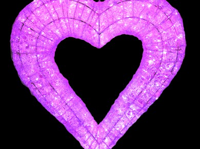 LEDクリスタルグロー ハート ピンク