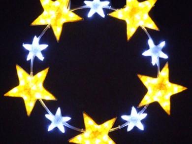 LEDクリスタルグロー スターリング イエロー(小)