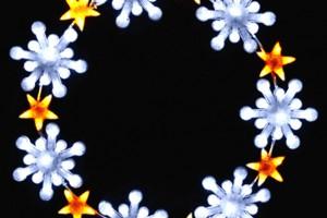 LEDクリスタルグロー スノーフレークリング ホワイト(大)