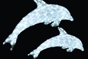 LEDクリスタルグロー ドルフィン(小) ホワイト