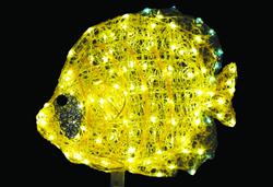 LEDクリスタルグロー ゴールデンバタフライ
