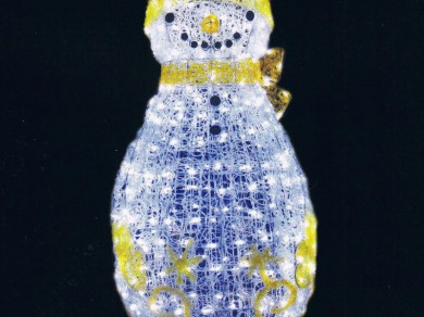 LEDクリスタルグロー ファンシースノーマン イエロー(現在完売中)