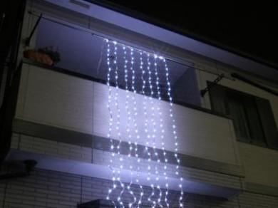 LEDウォーターフォールカーテン ホワイト