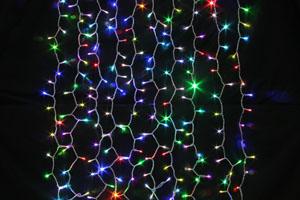 LEDカーテンライト ランダムレインボー